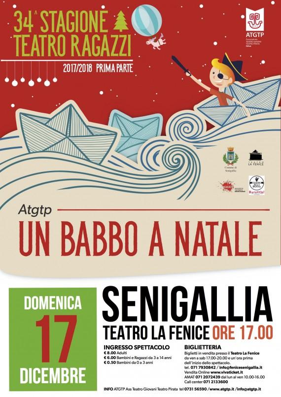 34^Stagione Teatro Ragazzi &#8220;UN BABBO A NATALE&#8221; <br/> DOM 17 DICEMBRE SENIGALLIA