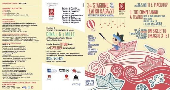 34^Stagione Teatro Ragazzi II Parte <br/> DOM 28 GEN CHIARAVALLE, MONTEMARCIANO, ARCEVIA