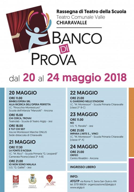 BANCO DI PROVA 20-24 maggio Chiaravalle, Teatro Valle