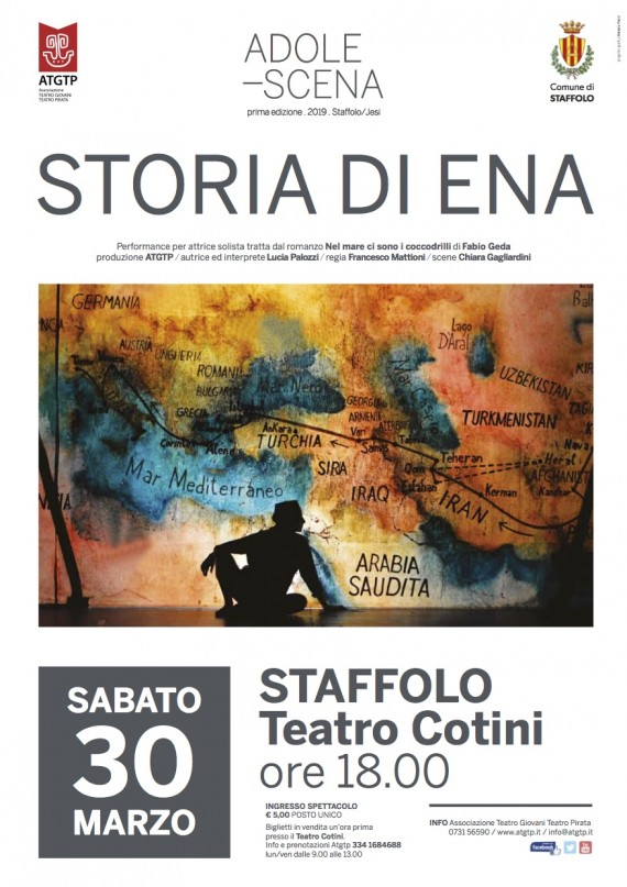 """ADOLE-SCENA <br/> """"Storia di Ena"""" 30 marzo STAFFOLO"""
