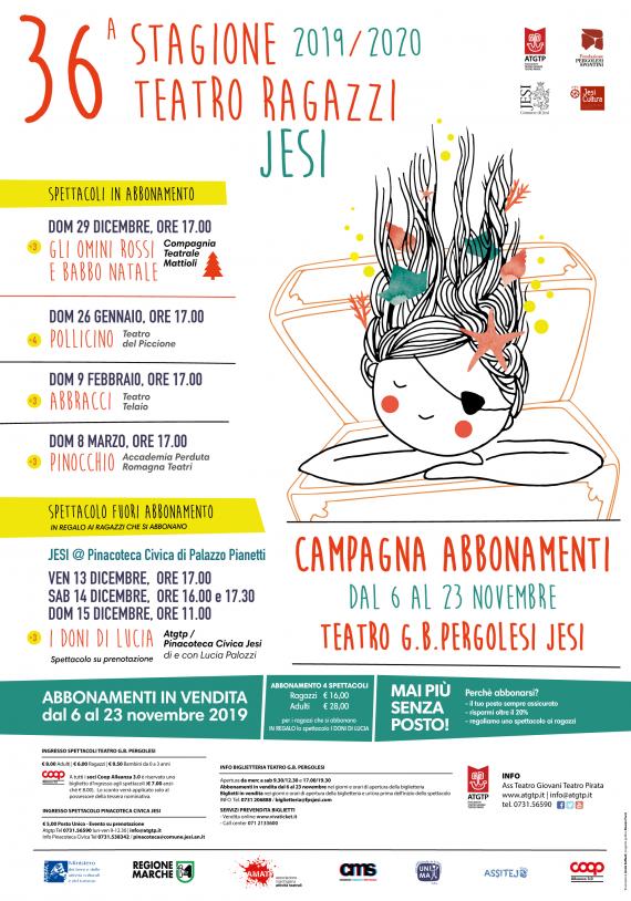 CAMPAGNA ABBONAMENTI TEATRO PERGOLESI <br/> dal 6 al 23 NOVEMBRE