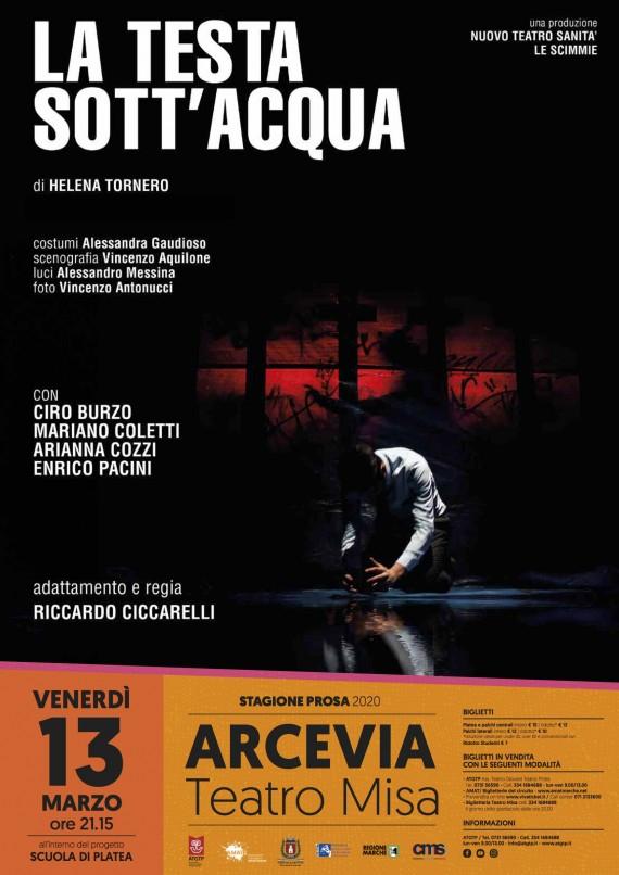 STAGIONE PROSA ARCEVIA   > LA TESTA SOTT'ACQUA Nuova Teatro Sanità