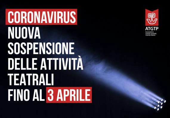Sospensione delle attività teatrali fino al 3 aprile 2020